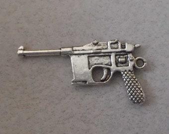 Silver Gun Pendant