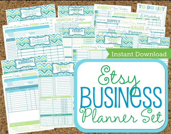 items similar to instant download etsy business planner work at home planners 21 documents on etsy bussiness planner