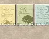 Set of 3 8x10 - I Love You in the Morning, And in the Afternoon, I Love You in the Evening and Underneath the Moon Prints