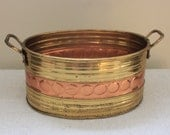 Vintage Two-Tone Metal Bucket