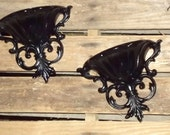 Black Wall Sconce/Ornate Wall Sconce/Hollywood Regency Sconce
