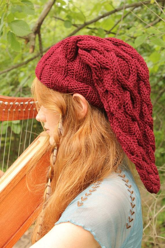Legend Of Zelda Link Hat Knitting Pattern : Fire Temple Red Cable-Knit Legend of Zelda Link Inspired Hat