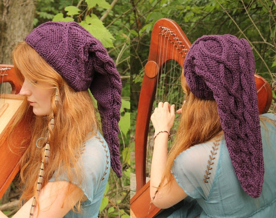 Purple Cable-Knit Legend of Zelda Link Inspired Hat