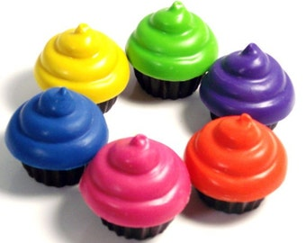 Recycled Cupcake Crayons - Set of 4