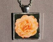 Strike it Rich Rose Photo Pendant Necklace