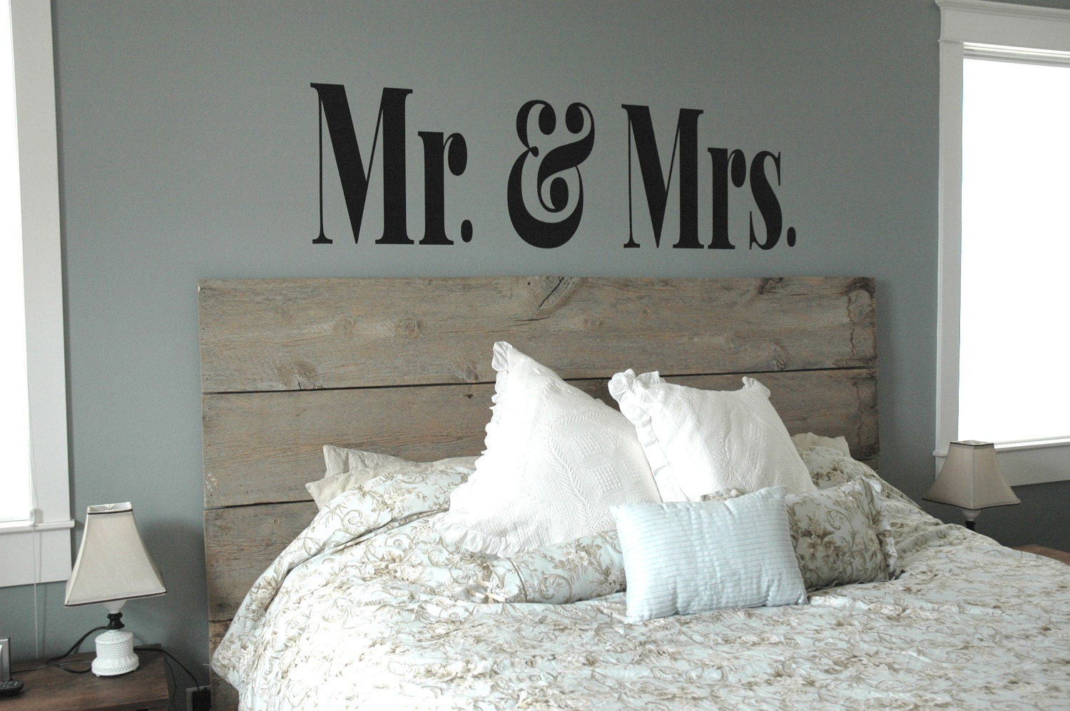 XL MR & MRS Vinyl Decal Master Bedroom Decor Modern