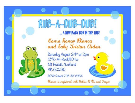 Splish Splash Rub-A-Dub-Dub Frog and Duck by GlitterInkDesigns