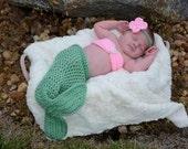 Handmade Crochet Baby Preemie Size Mermaid Photoprop Made To Order