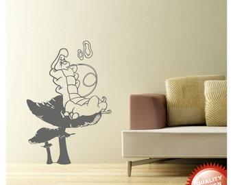 Absolem the catterpillar from Alice in wonderland vinyl wall decal sticker