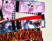 Crossfit/workout wrist wraps with elastic loop and velcro to help keep it in place. Styles shown are ready to ship.