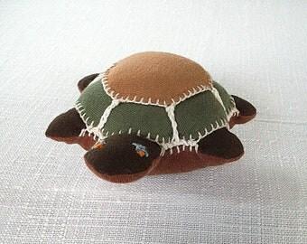 soft toy Turtle stuffed animal Waldorf toy turtle organic cotton