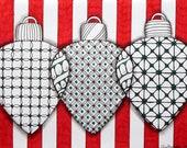 Zentangle Inspired Christmas Card