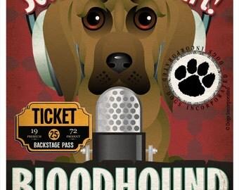 Bloodhound Studio Original Art Print - Custom Dog Breed Print - 11x14 - Personalize with Your Dog's Name