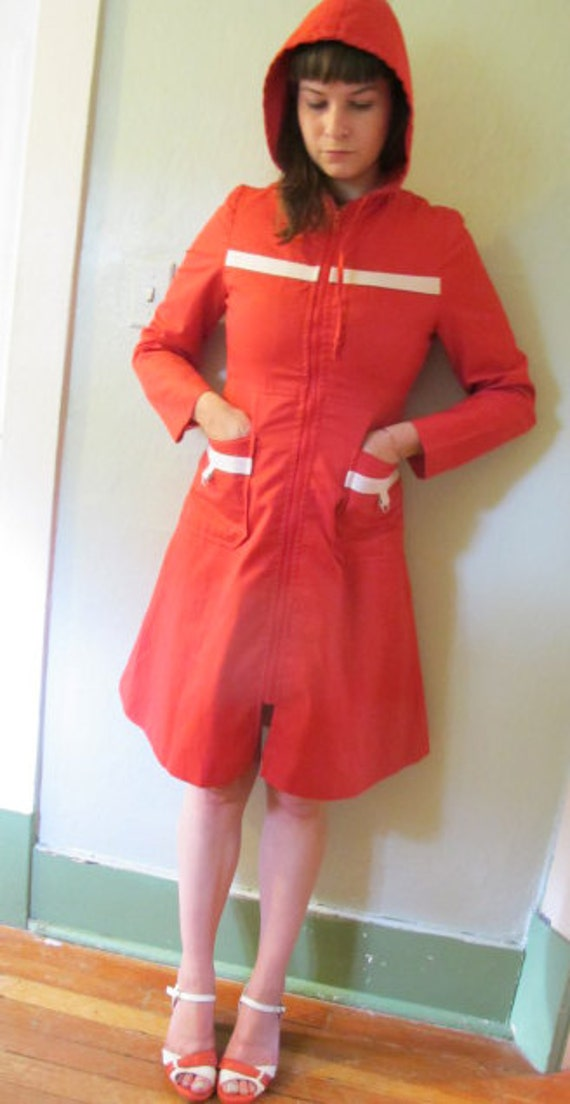 Reserved for Lou: XS-S 1970s Little Red Riding Hood jacket
