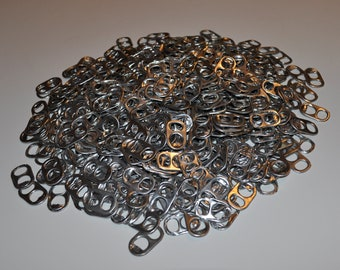 100 Aluminum Soda Can Pull Tabs, Soda Pop Can Tabs, Eco-Friendly and Recyclable