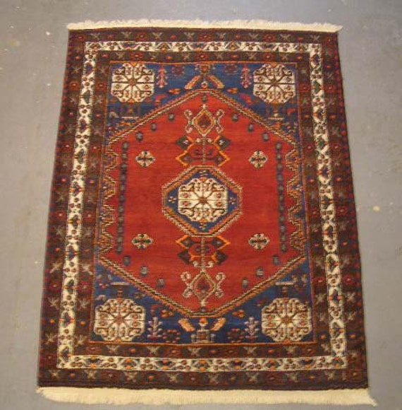 20% OFF SALE - 1960s Hand-Knotted Shiraz Persian Rug