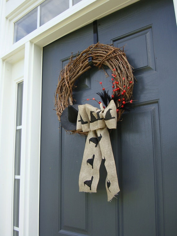 Witches Hat Halloween Wreath