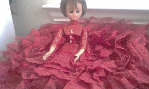 Vintage Dolls 1960 Vintage Doll 1960's Bed Doll