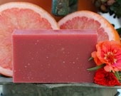 50% off SALE with coupon SUMMER50  Enjoy and pamper yourself with our  Blood Orange Bergamot Bar Soap.