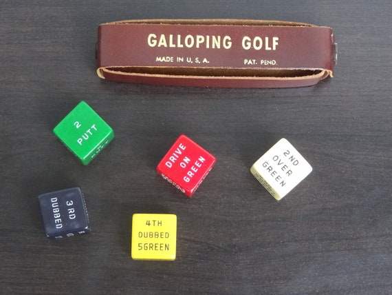 Vintage Galloping Golf Dice Game - 1940s
