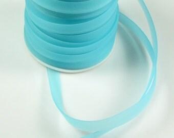 Rubber cord 8mm, flat luminous aqua, 5 feet
