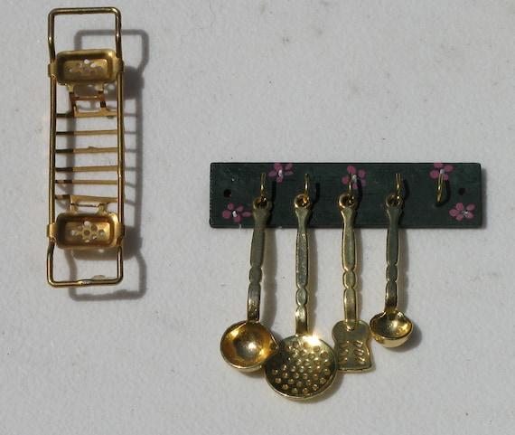 Miniature Doll House Kitchen Utensil Rack