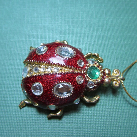 Vintage Jewelry Pendant Large Ladybug Enamel By Dlspecialties