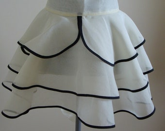 Vintage 3 Tiered Ruffled Organza Apron very Flirty but Timeless
