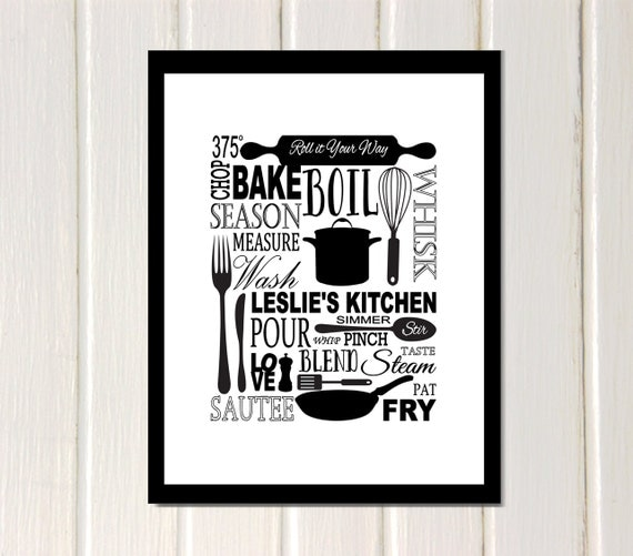 Kitchen Inspirational Quotes: Kitchen Subway Art Print Inspirational Quote By 7WondersDesign