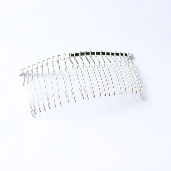 Large Metal Bridal Wedding Birdcage Veil Hair Comb Clip