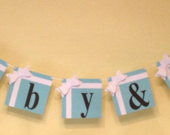 """Baby Shower """"Baby & Co""""  Banner"""