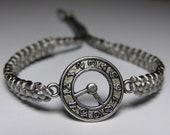 Watch Bracelet with gray macrame cord