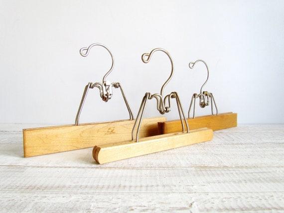 Vintage Wooden Slacks Hanger - Setwell - Set of 3