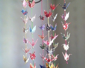 One of a Kind Origami Crane Mobile for Baby