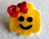 Lego Head Barrette
