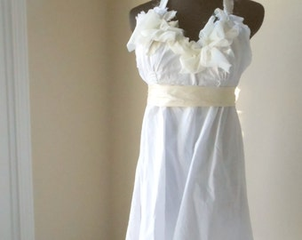 Ethereal Wedding Dress Hippie Boho Beach Bride Shabby Bridal Gown One of a Kind Handmade Alternative Wedding Pixie Rustic Upcycled Eco Gown