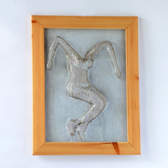 Wire And Glass Wall Art Home Decor ~ Metal wall art framed home decor wire mesh sculpture