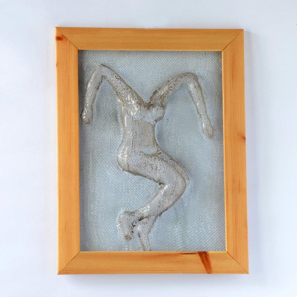 Framed Metal Wall Art metal wall art framed art home decor wire mesh sculpture
