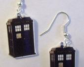 Dr Who Tardis Earrings- Tardis