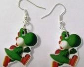 Yoshi Earrings-Mario