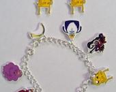 Adventure Time Charm Bracelet with Jake Earrings