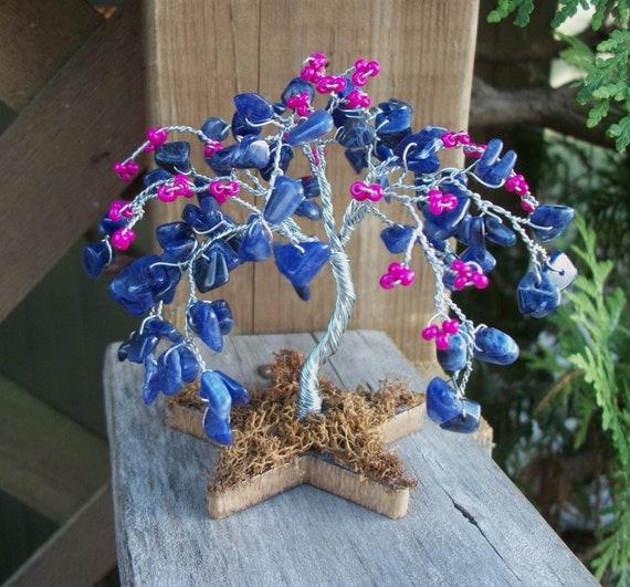 Tiny Tree - Sodalite and Seed Beads