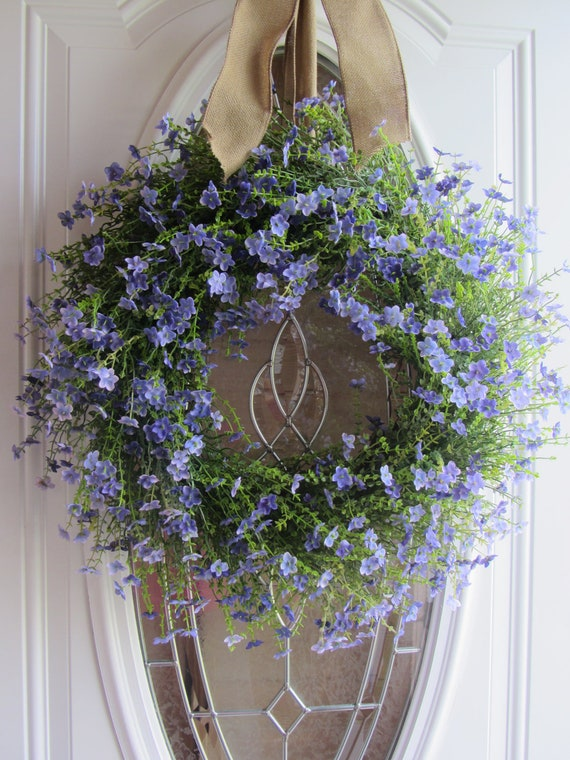 Summer Wreath Front Door Wreath Country Wreath Lilac