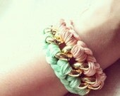 double trouble woven chain bracelet