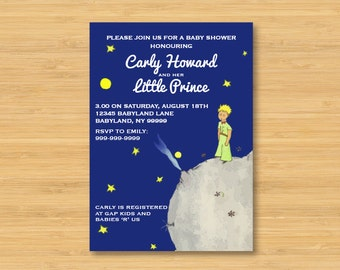 The Little Prince Baby Shower Invitation - 5 x 7 - Le Petit Prince