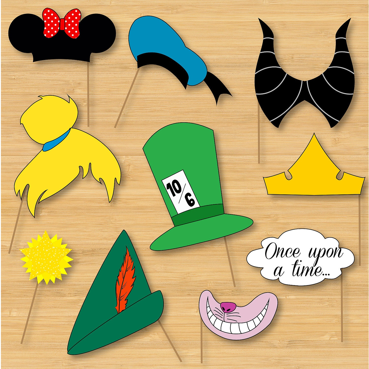 Inventive image for free printable mickey mouse photo booth props