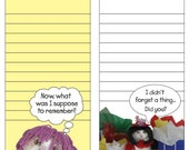Two Sided Reminder, cat notes