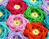 Hawaiian Flower Blanket Crochet Pattern