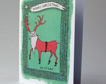 Weird Christmas card - Christmas Mutant - Santeer
