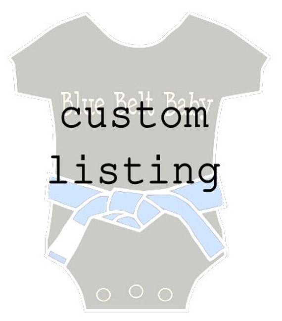 Custom listing for egsbockmier